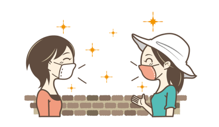 マスクで会話