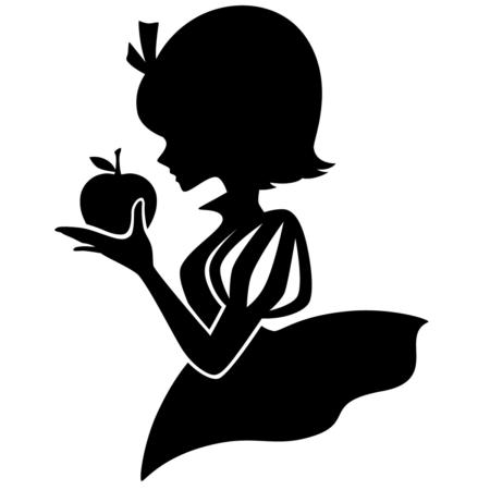 白雪姫のシルエット